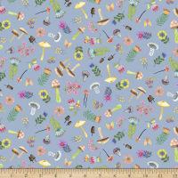 Michael Miller Fabrics Be Kind To Everything That Grows Woodland Whimsy Blue