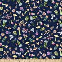 Michael Miller Fabrics Be Kind To Everything That Grows Woodland Whimsy Navy