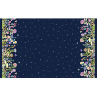 Michael Miller Fabrics Be Kind To Everything That Grows Bewitching Border Navy