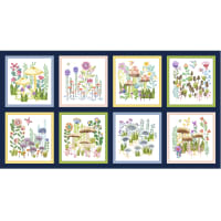 """Michael Miller Fabrics Be Kind To Everything That Grows Enchanted Forest 24"""" Panel Navy"""