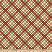 Michael Miller Vintage Holidays Holiday Plaid Red