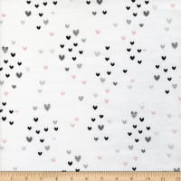 3 Wishes Don't Forget To Dream Flannel Hearts White