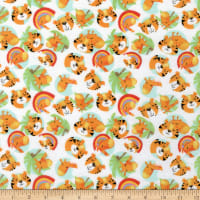 3 Wishes Welcome To The Jungle Flannel Jungle Friends White