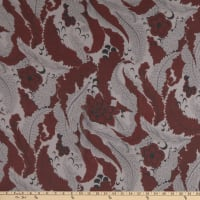 Silk Georgette Autumn Leaves Red