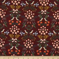 Cotton+Steel Meadow Luxembourg Burgundy
