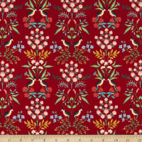 Cotton+Steel Rifle Paper Co. Meadow Luxembourg Red