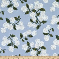 Cotton+Steel Rifle Paper Co. Lawn Meadow Hydrangea Light Blue