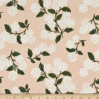Cotton+Steel Rifle Paper Co. Lawn Meadow Hydrangea Blush