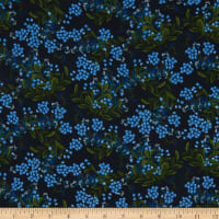 Cotton+Steel Rifle Paper Co. Rayon Challis Meadow Cornflower Navy