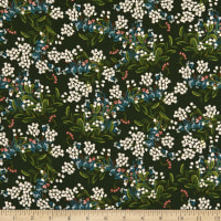 Cotton+Steel Rifle Paper Co. Rayon Challis Meadow Cornflower Hunter