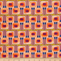 RJR Floret Geometric Flower Board Orange