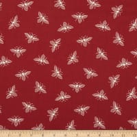 Andover French Bee Bees Cranberry