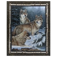 """Wild Wings Digital Contemplation Wall 36"""" Panel Brown"""