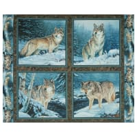 "Wild Wings Digital Contemplation Pillow 36"" Panel Blue"