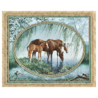 "Wild Wings Digital Willow Brook Wall Hanging 36"" Panel Multi"