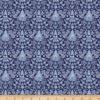 Susan Winget Chinoiserie Small Pagoda Allover Blue Navy