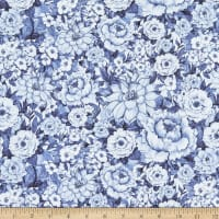 Susan Winget Chinoiserie Floral Allover Navy