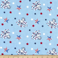 Peanuts Digital Snoopy Star Spangled Light Blue