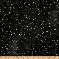 Hoffman Metallic Cosmic Skies Stars Black Gold