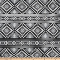 Yarn Dyed Woven Global Textures Black Grey
