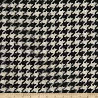 Wool Houndstooth Small Black/White
