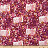 Art Gallery Bookish Wildest Dreams Pink/Eggplant/White