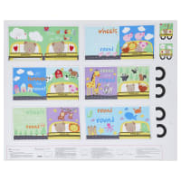 """Huggable And Loveable X The Wheels On The Bus Book 36"""" Panel Multi"""
