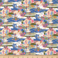 Liberty Fabrics Tana Lawn Going for Gold Pink Green