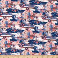 Liberty Fabrics Tana Lawn Going for Gold Pink Blue