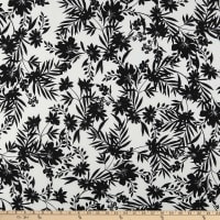 Fabric Merchants ITY Stretch Jersey Knit Tropical Floral White/Black