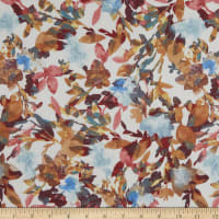 Printed Rayon Gauze Floral Ivory Combo