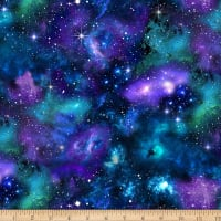 Timeless Treasures Stretch Jersey Knit Galaxy