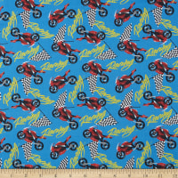 Marshall Dry Goods Racing Motorcycles Blue
