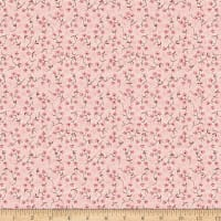 Stoffabric Denmark Fillippa's Line Flowers Branches & Dots Rose
