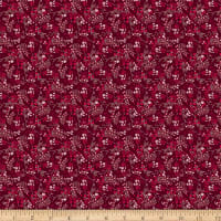 Stoffabric Denmark Fillippa's Line Flowers Lines & Dots Red