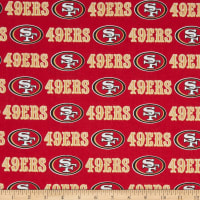 NFL Cotton Broadcloth San Francisco 49ERS Red
