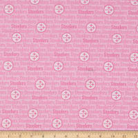 NFL Cotton Broadcloth Pittsburgh Steelers Pink