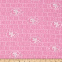 NFL Cotton Broadcloth San Francisco 49ERS Pink