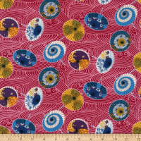 Trans-Pacific Textiles Rainy Day Red