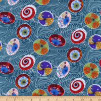 Trans-Pacific Textiles Rainy Day Teal