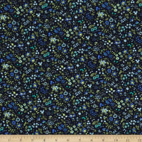 Cotton Berry Floral Navy
