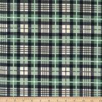 Northcott Frosted Forest Flannel Dark Plaid Black Multi