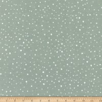 Northcott Frosted Forest Flannel Snowy Blender Sage