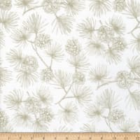 Northcott Frosted Forest Flannel Pine Toile Cream