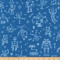 Rollicking Robots Drawing Board Blue