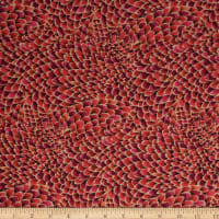 Fabtrends Washer Ghost Feather Wine/Red