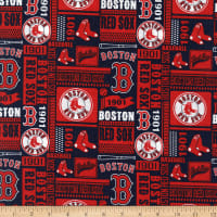 MLB Broadcloth Boston Red Sox 1901 Red/Navy