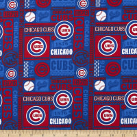 MLB Broadcloth Chicago Cubs 1876 Blue/Red