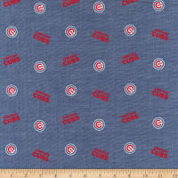 MLB Chambray Chicago Cubs Red/White