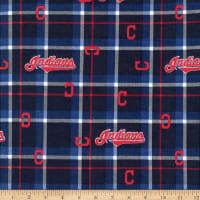 MLB Flannel Cleveland Indians Navy/Red